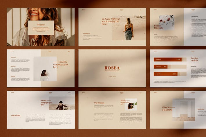 Thumbnail for ROSEA - Powerpoint Template