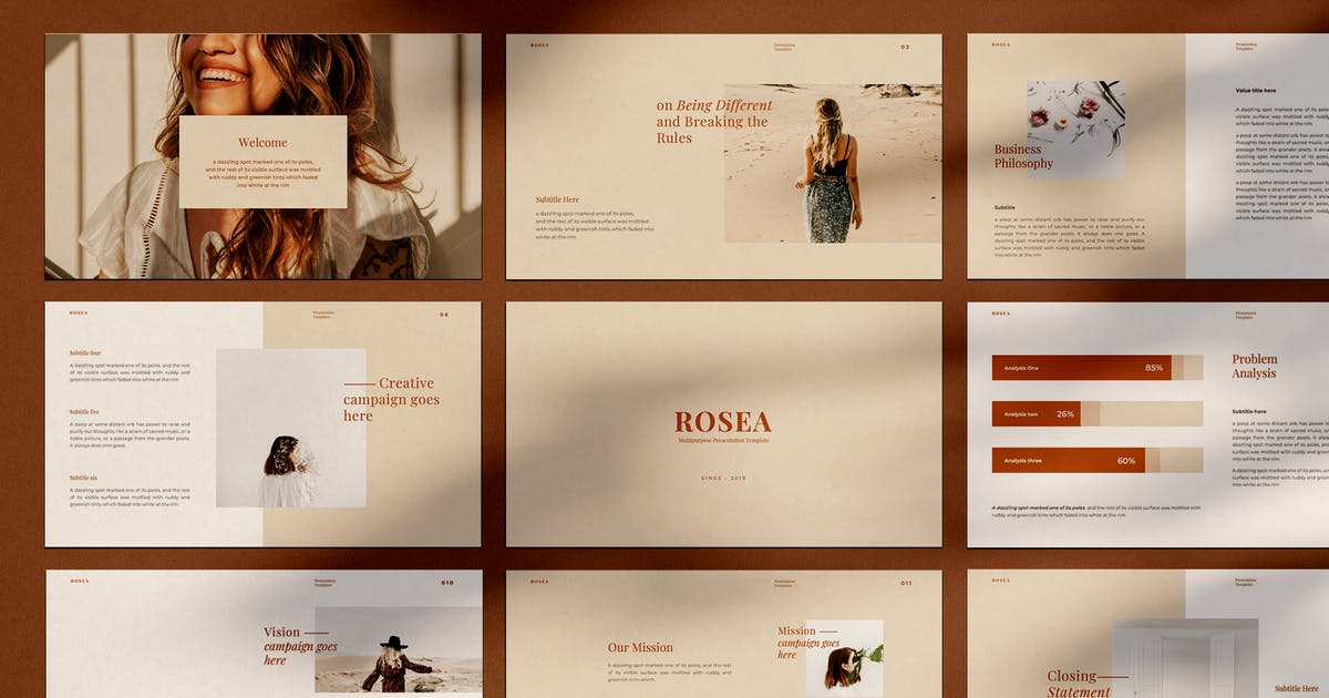 Download ROSEA - Powerpoint Template by adilbudianto