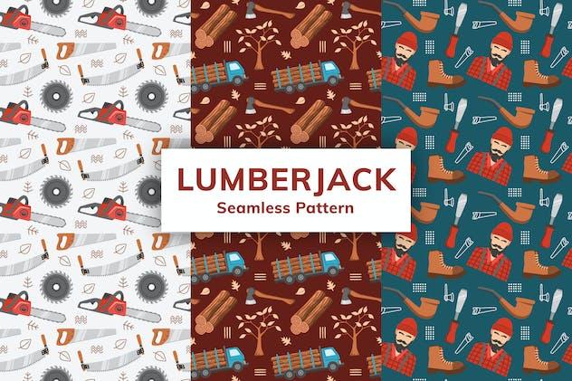 Lumberjack Seamless Pattern
