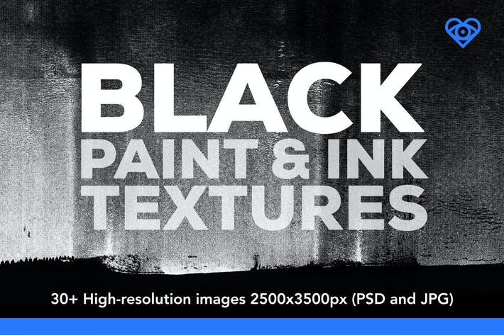 Thumbnail for 30 Black Paint and Ink Textures
