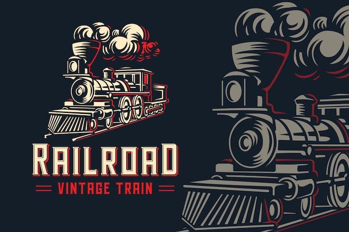 Thumbnail for RailRoad Vintage Train Logo Template