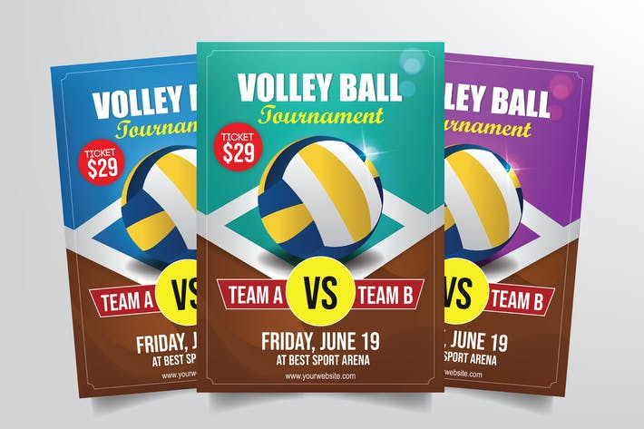 Thumbnail for Volleyball Tournament Flyer Template