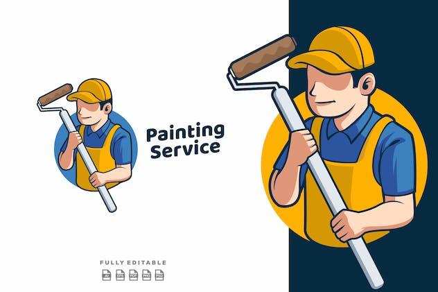 Painting Service Mascot Retro Logo