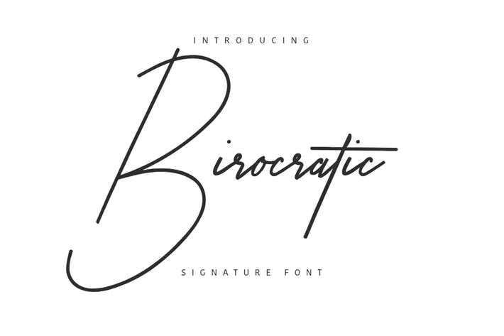 Thumbnail for Birocratic Signature Typeface