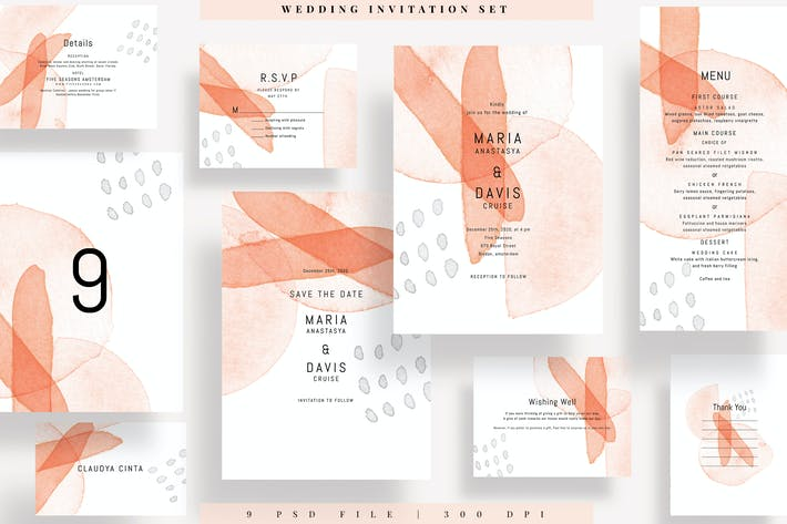 Thumbnail for Wedding Invitation Set AE