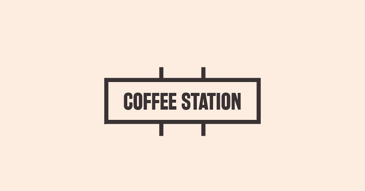 Download Coffee Station Urban Trendy Logo by designdistrictmx