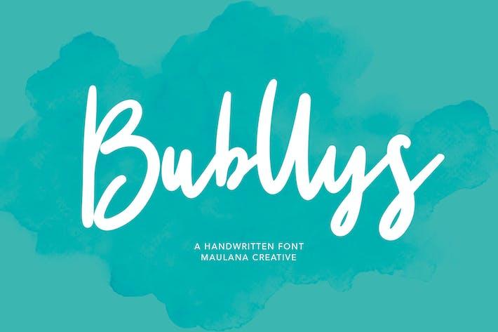 Bubllys Handwritten Font
