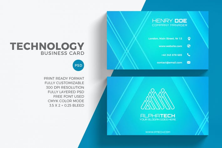Download 6648 business card templates envato elements thumbnail for technology business card technology business card by eightonesixstudios in graphic templates friedricerecipe Image collections