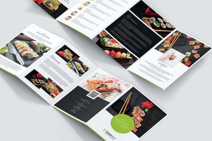 Cover Image For Brochure – Sushi Restaurant 4-Fold A5