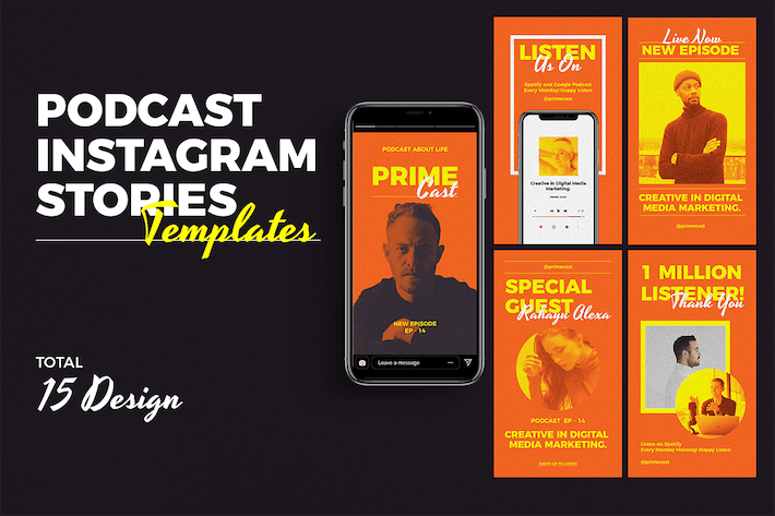 Thumbnail for Podcast - Instagram Stories Templates