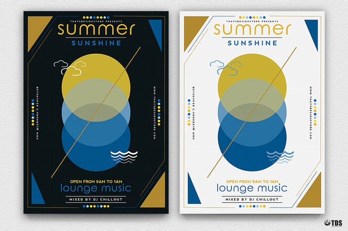 Thumbnail for Minimal Summer Flyer Template V2