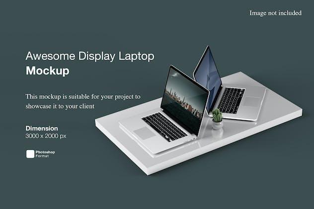 Awesome Display Laptop Mockup