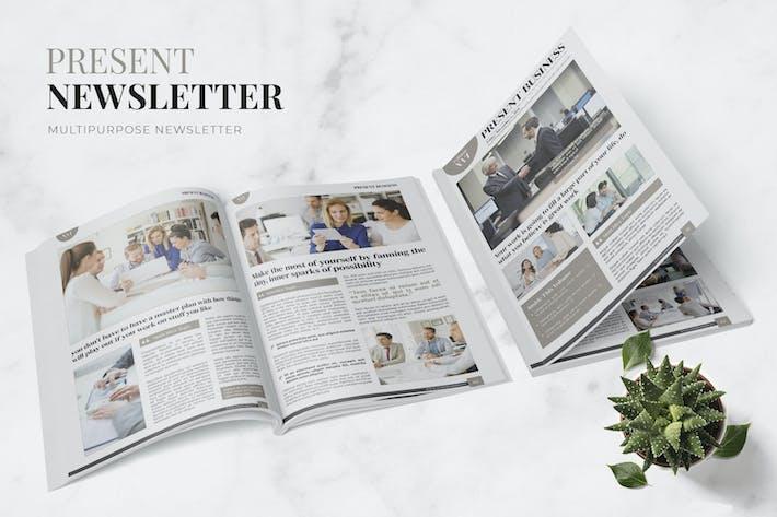 Thumbnail for Present Business Newsletter