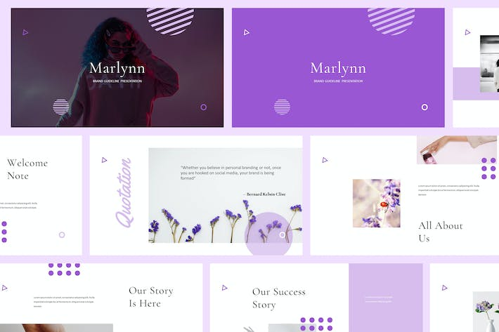 Cover Image For Marlynn - Branding Guidelines Powerpoint