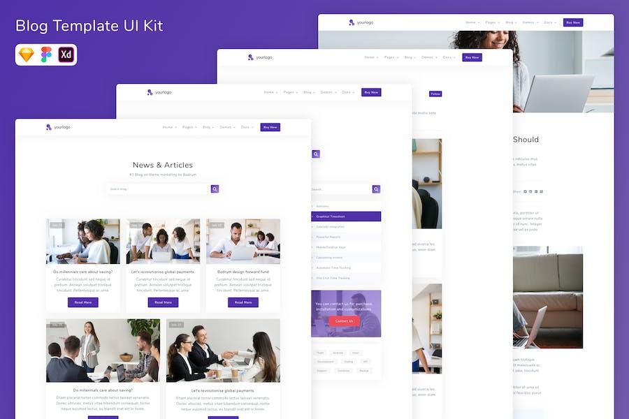 Blog Template UI Kit