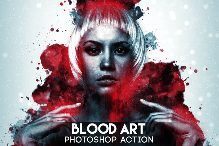 Cover Image For Blood Art Photoshop Action