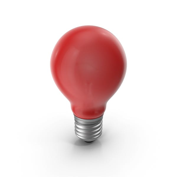 Lightbulb Red Glossy