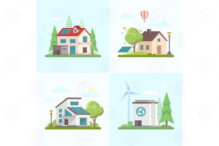 Eco-friendly complex - set of flat elements