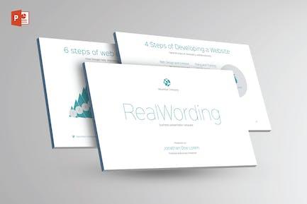 REAL WORDING -Multipurpose Powerpoint Template V21