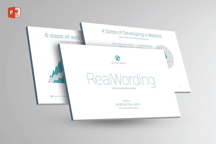 Thumbnail for REAL WORDING -Multipurpose Powerpoint Template V21