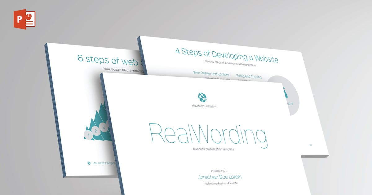 Download REAL WORDING -Multipurpose Powerpoint Template V21 by Shafura