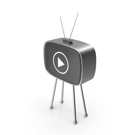 Signo de juego de TV antiguo