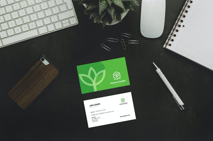 Home and Garden Business Card Template