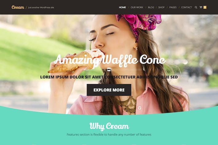 Thumbnail for Cream - Ice Cream and Bakery HTML5 Template