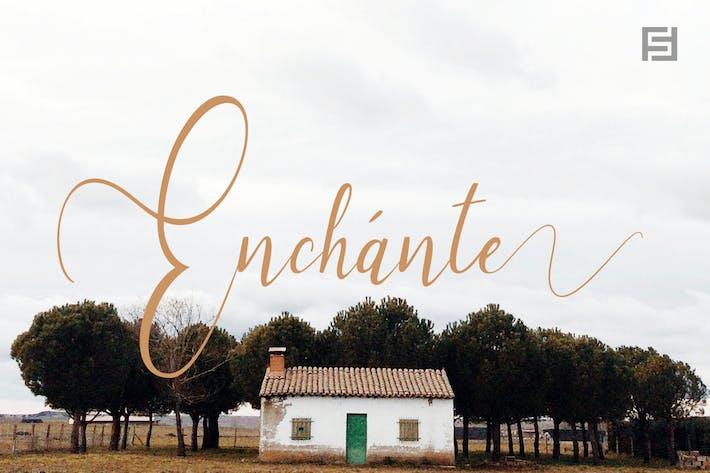 Enchante - Fuente manuscrita con conjuntos estilísticos