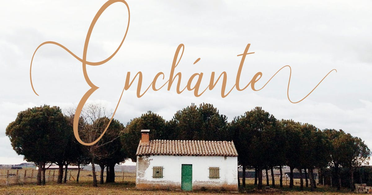 Download Enchante - Handwritten Font with Stylistic Sets by designova