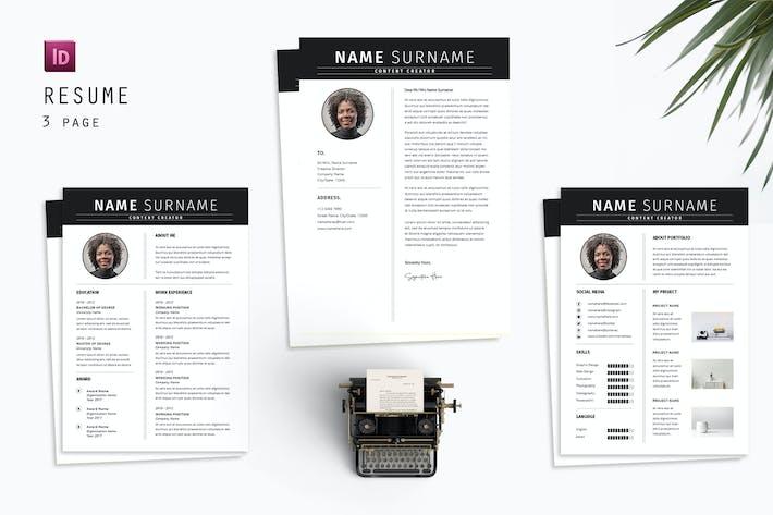 Thumbnail for Content Creator Resume Designer