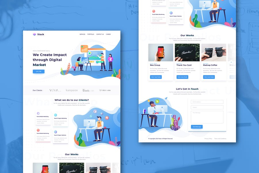 Stack - Business & Startup Homepage (XD Template)