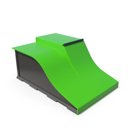Skateboard Rampen grün