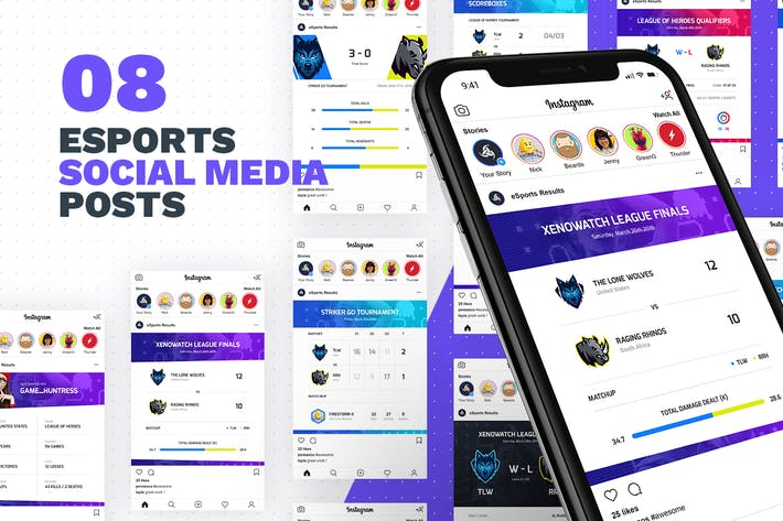Thumbnail for 8 eSports Posts for Social Media