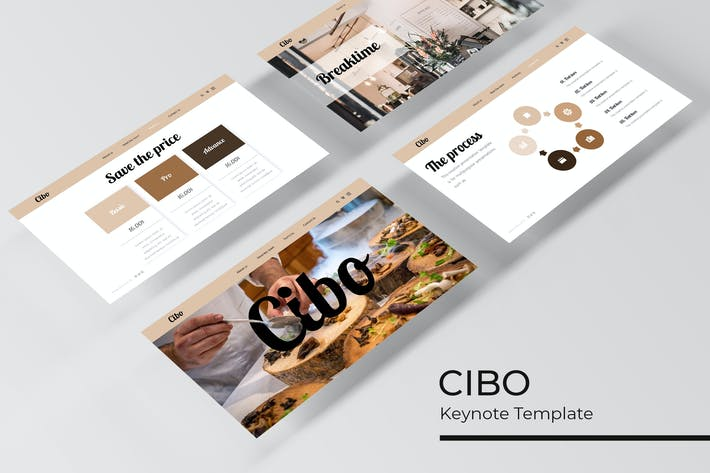Thumbnail for Cibo - Keynote Template