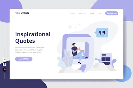 Inspirational Quotes - Landing Page