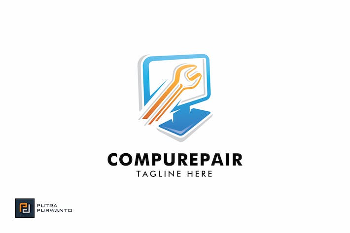 Thumbnail for Compurepair - Logo Template