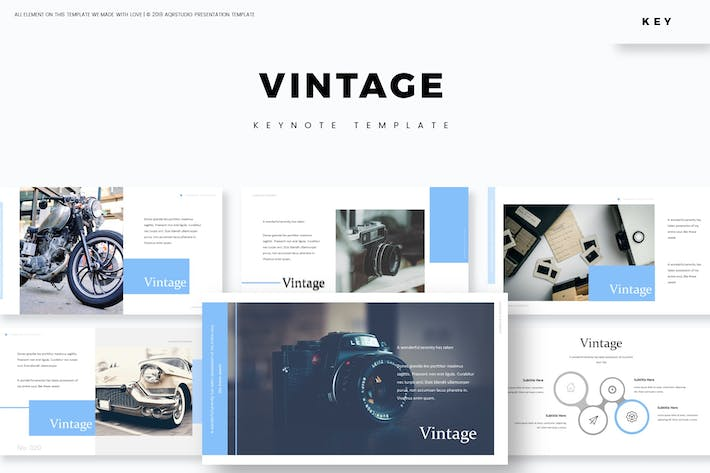 Thumbnail for Vintage - Keynote Template
