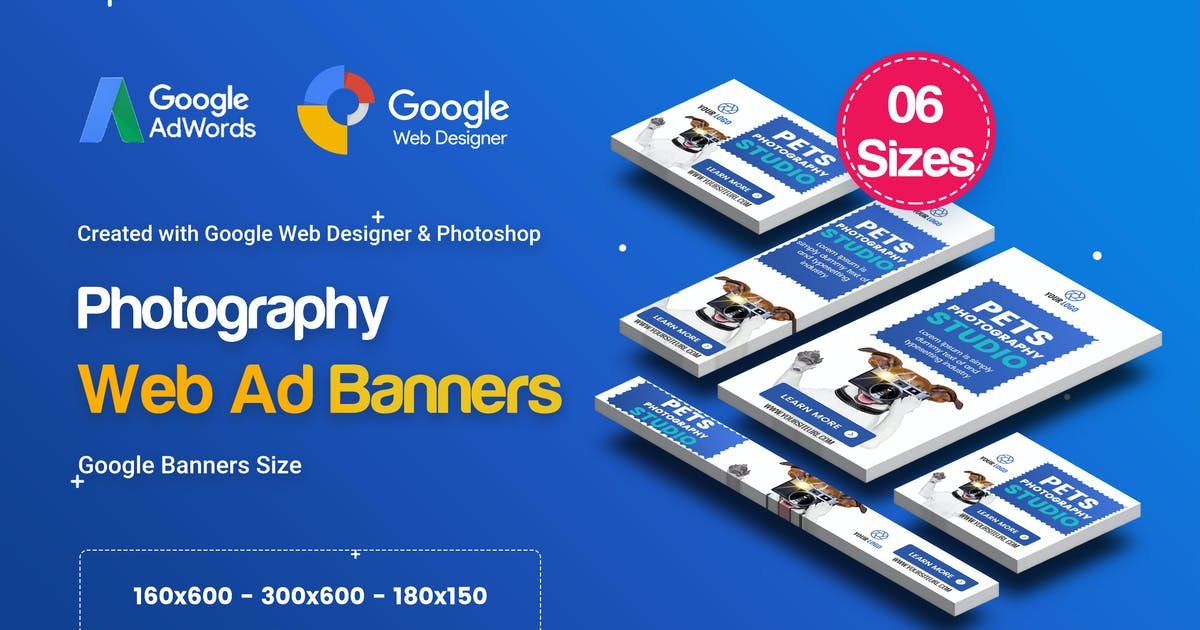 Download C26 - Photography Banners HTML5 - GWD & PSD by iDoodle