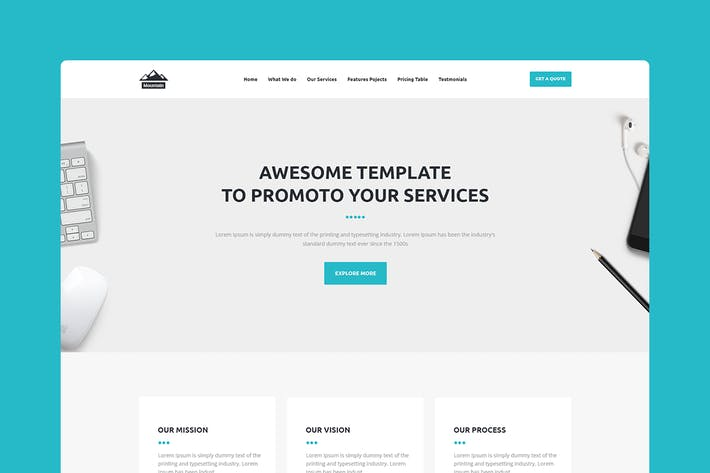 Thumbnail for Mountain - CMS Unbounce Template