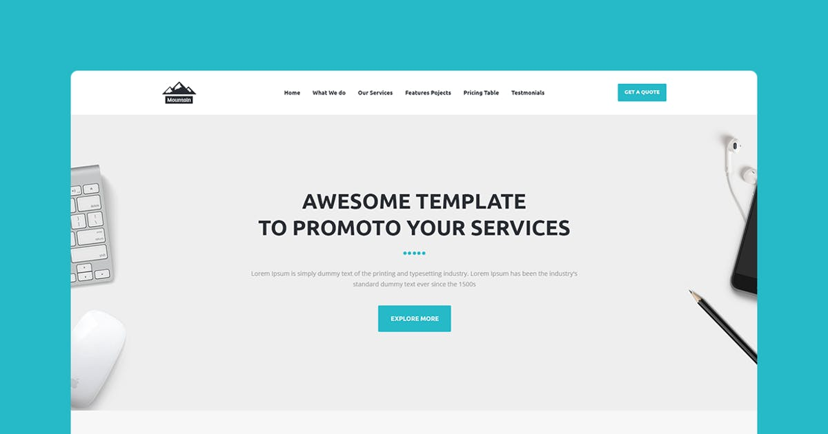 Download Mountain - CMS Unbounce Template by Morad