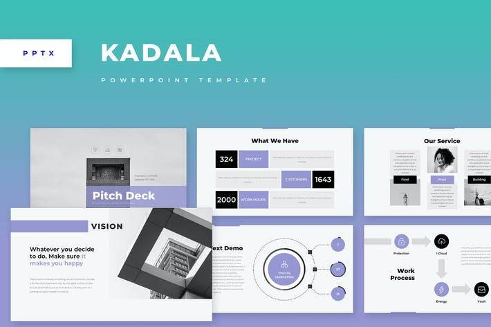 Thumbnail for Kadala Corporate Business Powerpoint Template