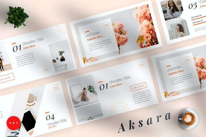 Thumbnail for Aksara - Creative Powerpoint Template