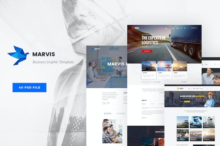 Thumbnail for Marvis - Business PSD Template
