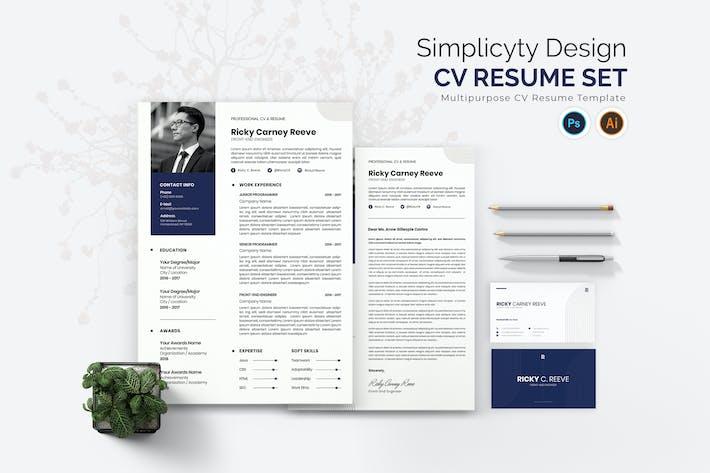 Thumbnail for Simplicity Design CV Resume Set