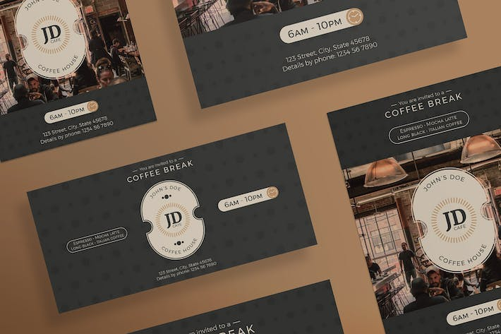 Thumbnail for Coffee Bar Flyer and Poster Template