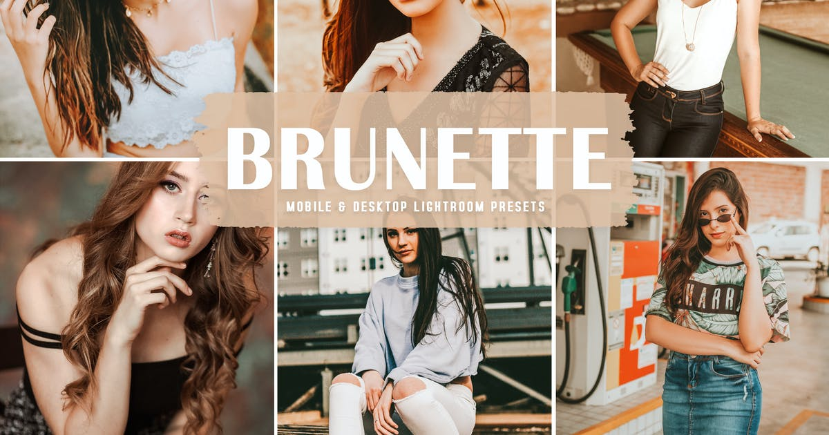 Download Brunette Mobile & Desktop Lightroom Presets by creativetacos