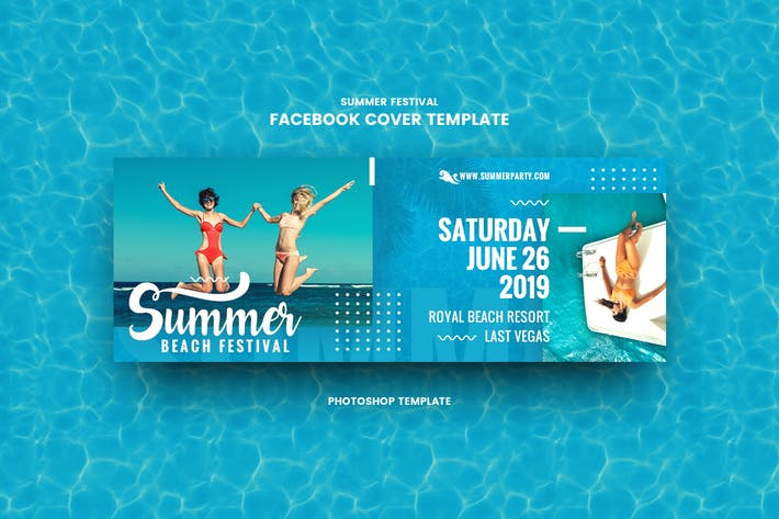 Thumbnail for Summer Festival Facebook Cover Template