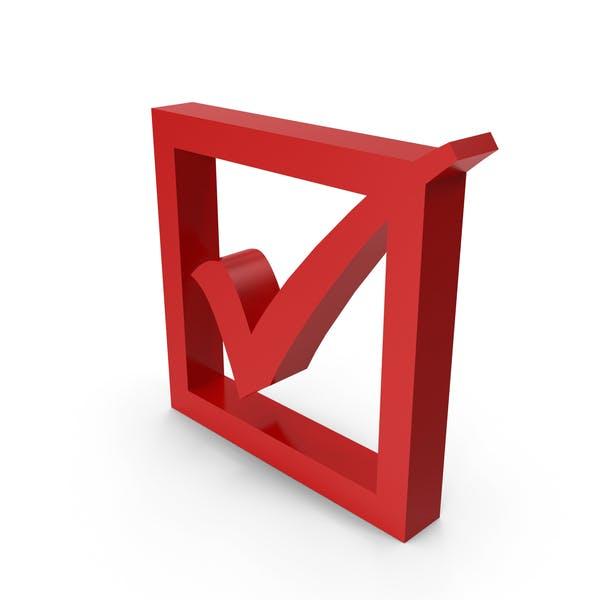 Check Mark Symbol with Box