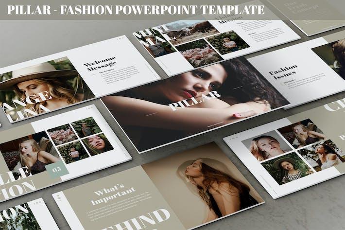 Pillar - Мода Powerpoint Шаблон